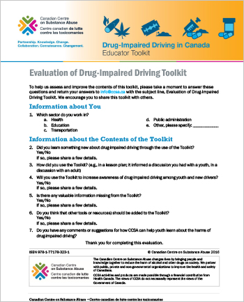 Evaluation of Drug-Impaired Driving Toolkit