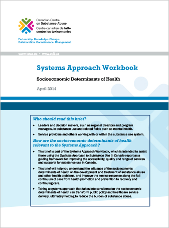 Systems Approach Workbook: Socioeconomic Determinants of Health