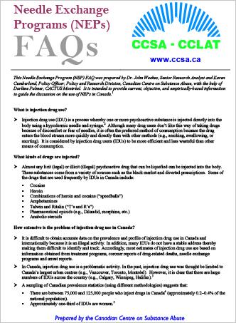 Needle Exchange Programs (NEPs) FAQs