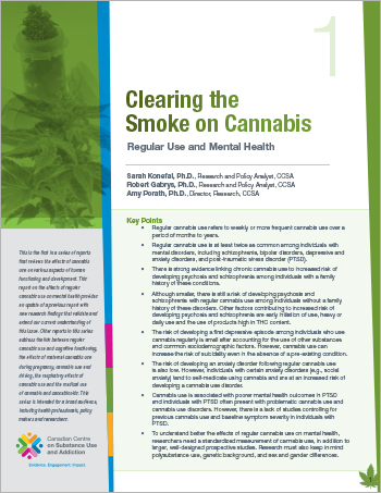 Clearing the Smoke on Cannabis: Regular Use and Mental Health