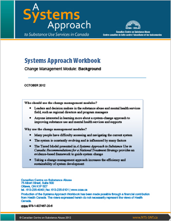 Systems Approach Workbook: Change Management Module: Background