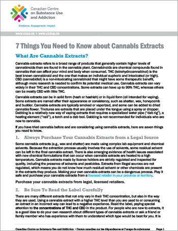 7 Things You Need to Know about Cannabis Extracts